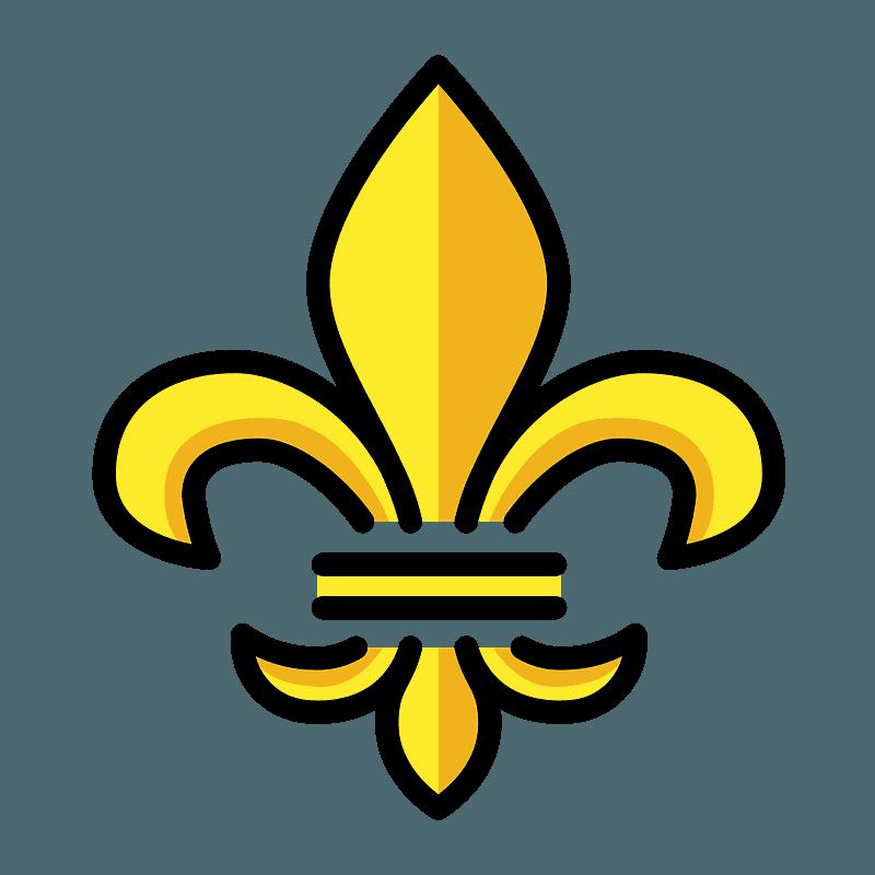 Fleur De Lis Emoji Clipart Free Download Transparent Png Creazilla
