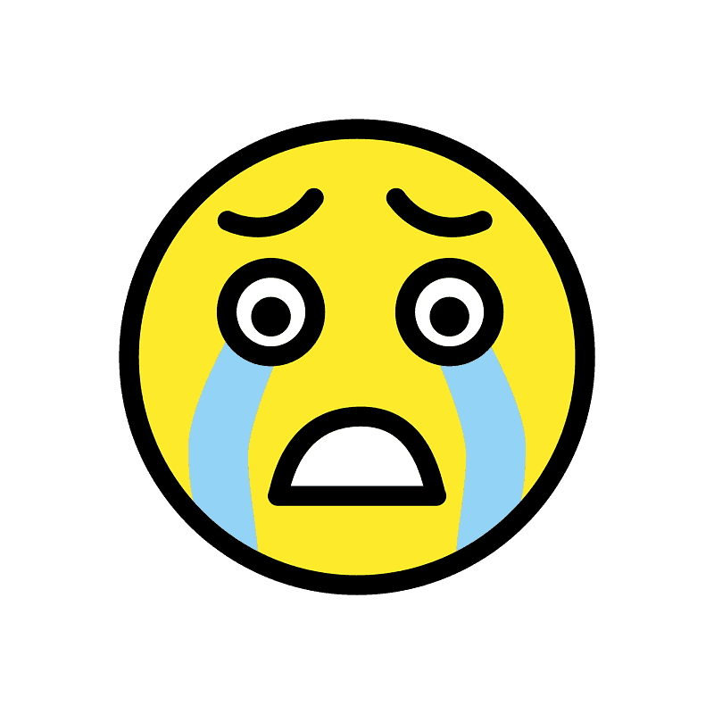Pixel - Cry Face Emoji Black And White - Free Transparent PNG Clipart  Images Download