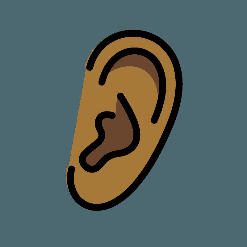 Ear emoji clipart. Free download transparent .PNG | Creazilla