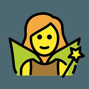 Woman fairy emoji clipart
