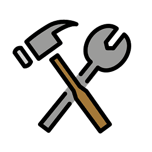 Hammer and wrench emoji clipart