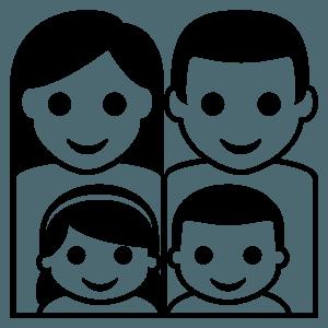 Family: man, woman, girl, boy emoji clipart
