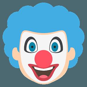 Clown face emoji clipart