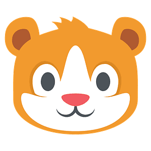 Hamster emoji clipart