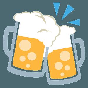 Clinking beer mugs emoji clipart