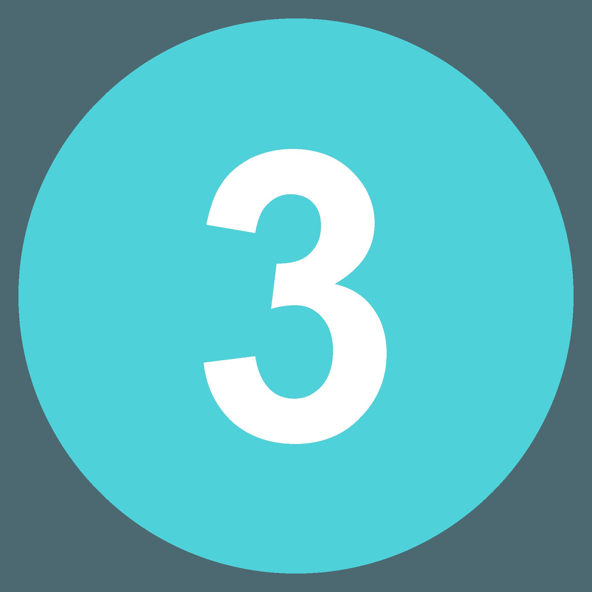 Keycap: 3 emoji clipart. Free download transparent .PNG | Creazilla