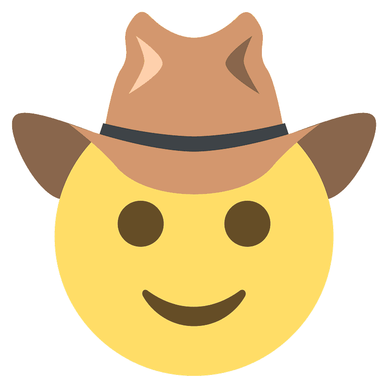 Cowboy Hat Face Emoji Clipart Free Download Transparent Png Creazilla Download icons in all formats or edit them for your designs. cowboy hat face emoji clipart free