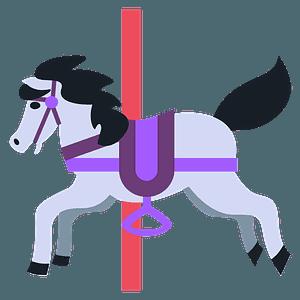 Carousel horse emoji clipart
