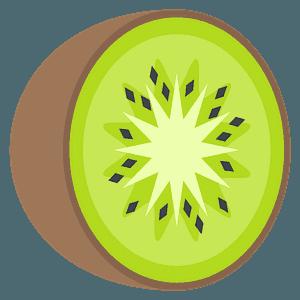 Kiwi fruit emoji clipart