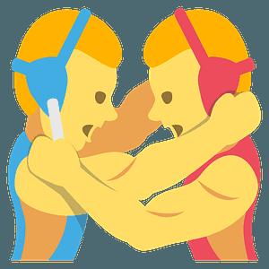 People wrestling emoji clipart