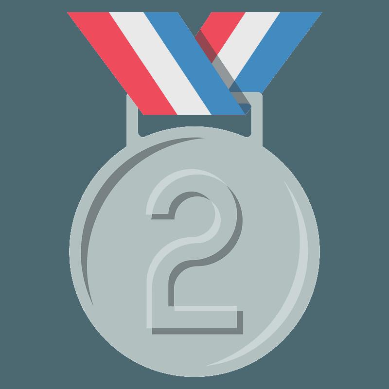 2nd place medal emoji clipart. Free download transparent .PNG ...