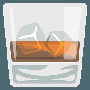 Vaso de whisky clipart