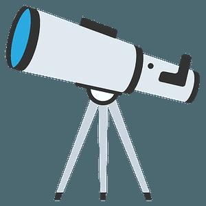 Telescope emoji clipart