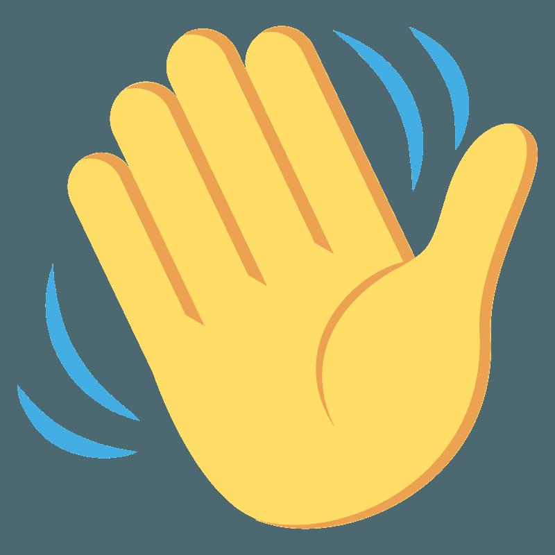 Waving hand emoji clipart. Free download transparent .PNG ...
