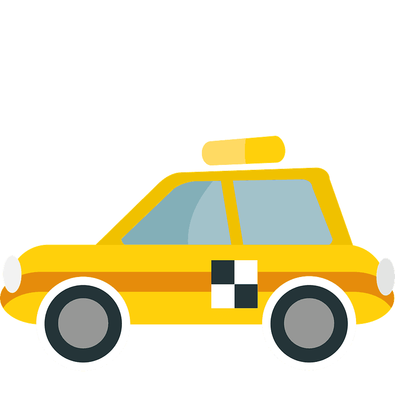 Taxi Clipart, Bild, Cartoon, Illustration kostenlos