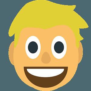 Person: blond hair emoji clipart