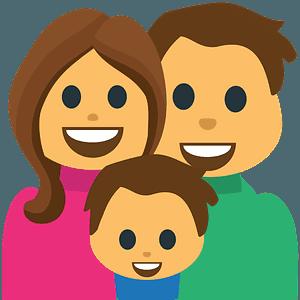 Family emoji clipart