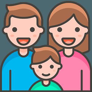 Family: man, woman, boy emoji clipart