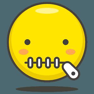 Gesicht mit Reißverschlussmund clipart