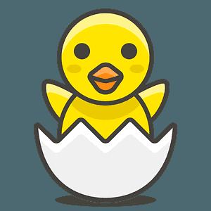 Hatching chick emoji clipart