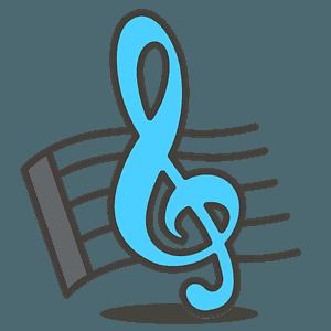 Musical score emoji clipart