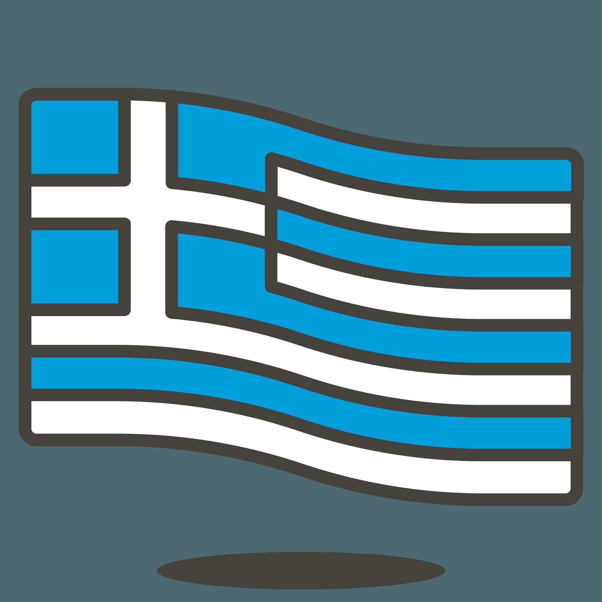 Greece flag emoji clipart. Free download transparent .PNG   Creazilla