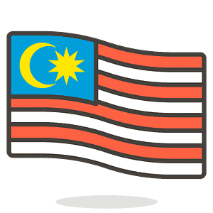 Malaysia flag emoji clipart