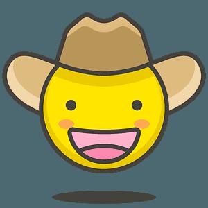 Cowboy hat face emoji clipart