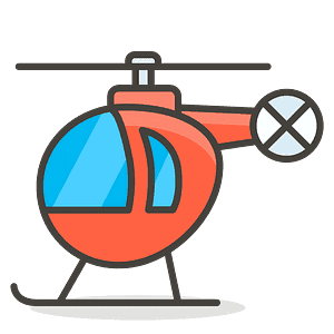 Helicopter emoji clipart