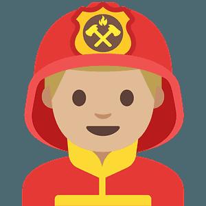 Man firefighter emoji clipart
