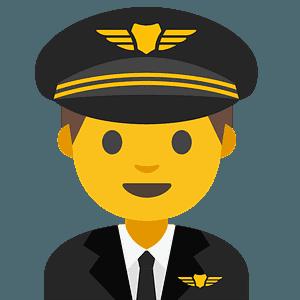 Man pilot emoji clipart