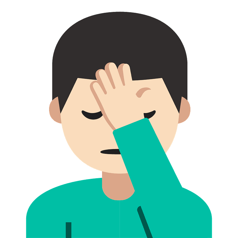 Man facepalming emoji clipart. Free download transparent ...