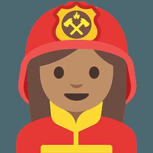 Woman firefighter emoji clipart