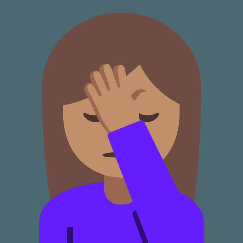 Woman facepalming emoji clipart. Free download transparent ...