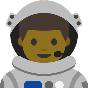 Man astronaut emoji clipart