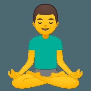 man in lotus position emoji clipart free download