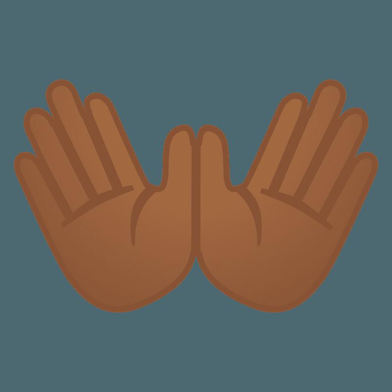 Open Hands Emoji Clipart Free Download Transparent Png Creazilla Open graphics hand palm, microphone, hand png. open hands emoji clipart free download