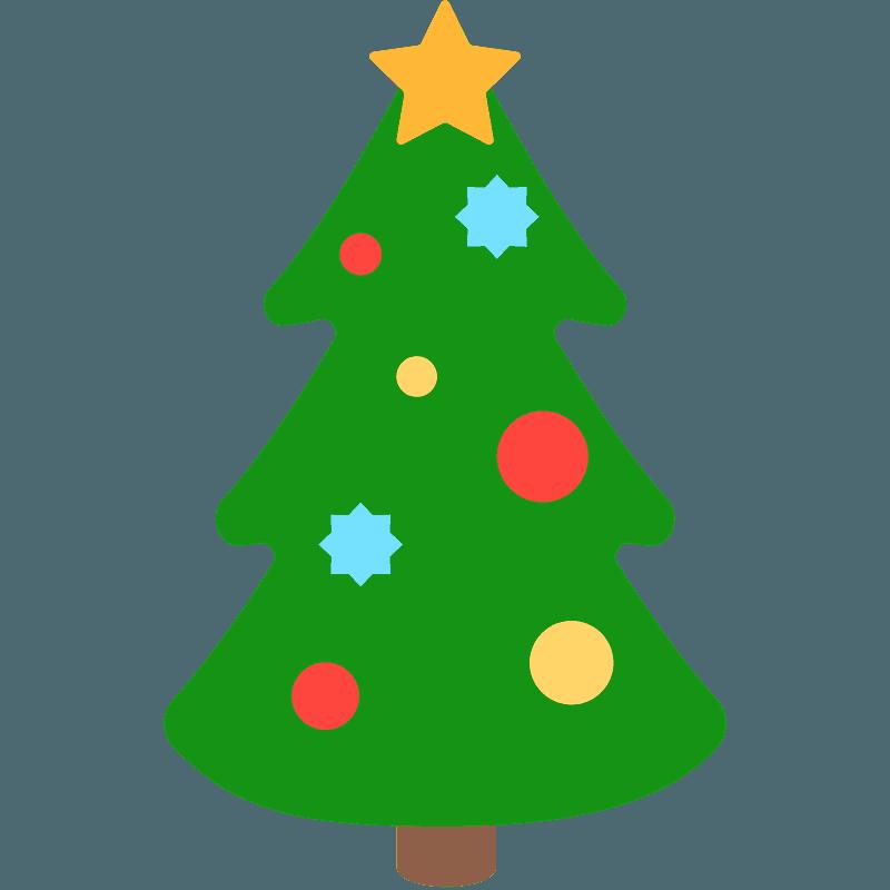 Christmas Tree Emoji Clipart Free Download Transparent Png Creazilla