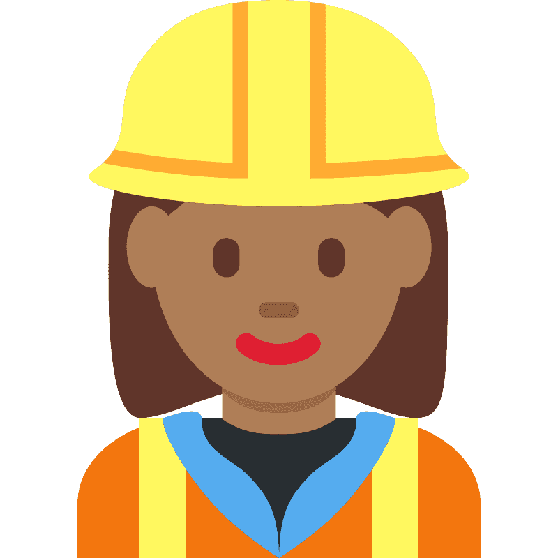 Woman Construction Worker Emoji Clipart Free Download Transparent Png Creazilla