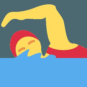 Woman swimming emoji clipart