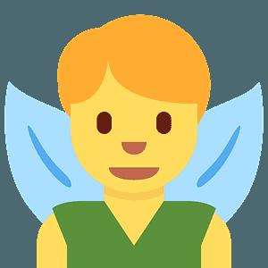 Man fairy emoji clipart