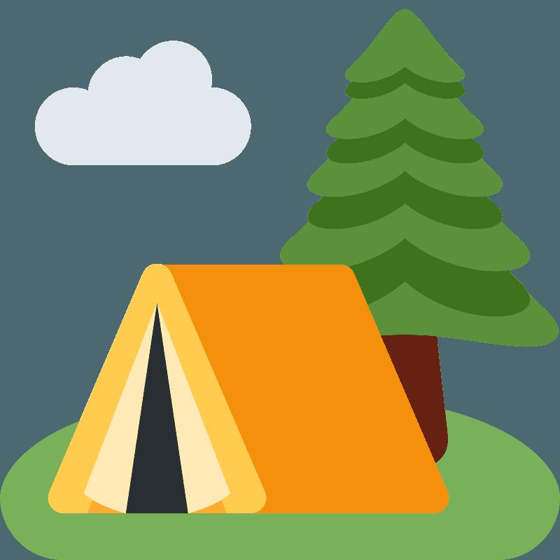 Camping emoji clipart. Free download transparent .PNG   Creazilla