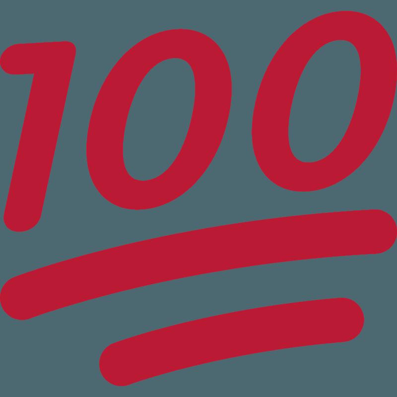 Hundred points emoji clipart. Free download transparent ...