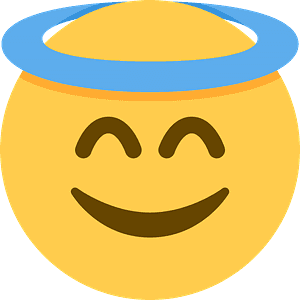 Smiling face with halo emoji clipart