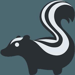 Skunk emoji clipart