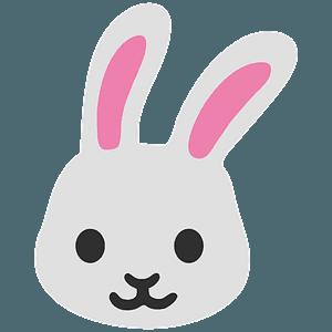 Rabbit face emoji clipart