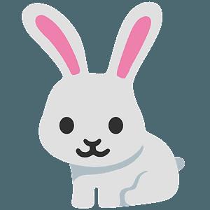 Rabbit emoji clipart