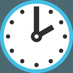 Two o'clock emoji clipart