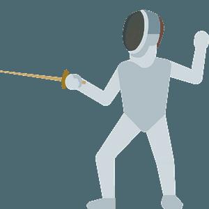 Person fencing emoji clipart