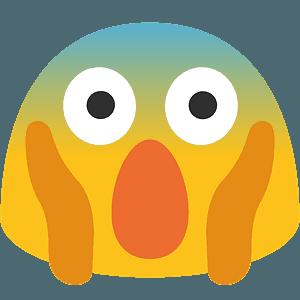 Face screaming in fear emoji clipart
